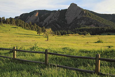 Chautauqua Park And Flatirons Art Print