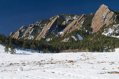 Photograph - Chautauqua Park Boulder Colorado Winter View by James BO  Insogna
