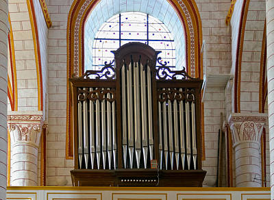 Photograph - Chauvigny Organ by Jenny Setchell