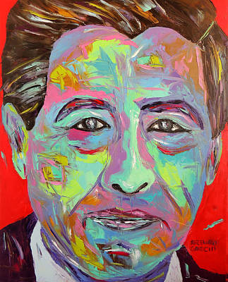 Cesar Chavez Painting - Chavez by Arturo Garcia