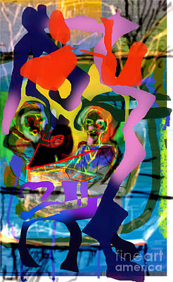 Phonetic Digital Art - Chavrusa 5 by David Baruch Wolk