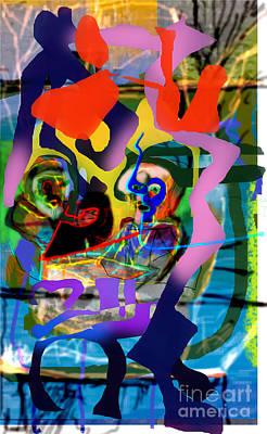 Phonetic Digital Art - Chavrusa 6 by David Baruch Wolk