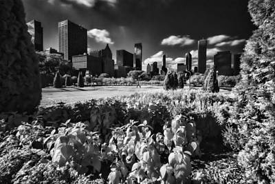 Chciago's Grant Park In The Late Afternoon Sun Art Print by Sven Brogren