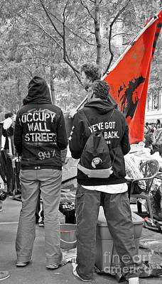 Art Print featuring the photograph Che At Occupy Wall Street by Lilliana Mendez