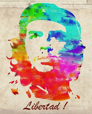 Che Digital Art - Che Guevara - Libertad by T Lang