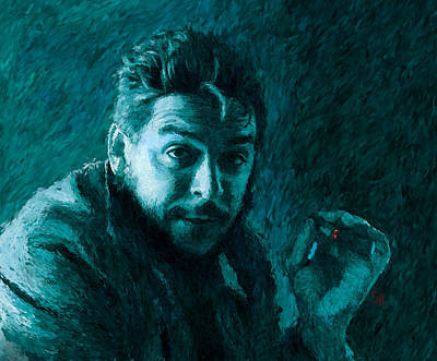 Counterculture Digital Art - Che Guevara Blue-green by Shubnum Gill