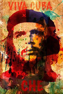 Che Digital Art - Che Guevara by Evgeni Nedelchev