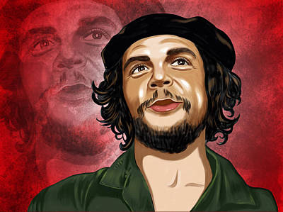Che Digital Art - Che Guevara Portrait by Arun Sivaprasad