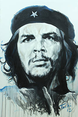 Famous People Painting - Che Guevara by Tachi Pintor