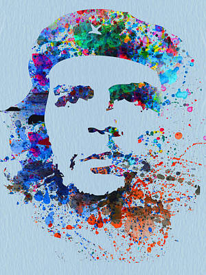 Leader Painting - Che Guevara Watercolor by Naxart Studio