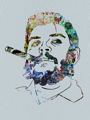 Freedom Painting - Che Watercolor by Naxart Studio