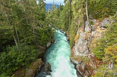Photograph - Cheakamus River Gorge - Bc Canada by Adam Jewell
