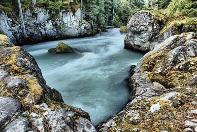 Photograph - Cheakamus River Rocks by Adam Jewell
