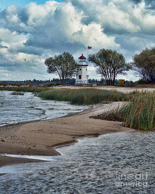 Photograph - Cheboygan Crib Lighthouse #18 by Crystal Nederman