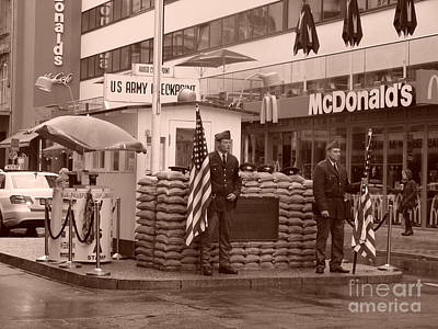 Check Point Charlie Art Print