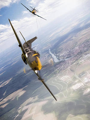 Bf-109 Digital Art - Check Six For Frankie by Peter Chilelli