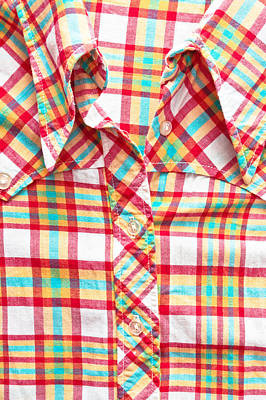 Checked Shirt Print by Tom Gowanlock