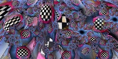 Checkered Black-and-white Digital Art - Checker by Ron Bissett