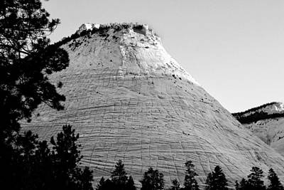 Slickrock Photograph - Checkerboard Mesa Black And White by Jemmy Archer
