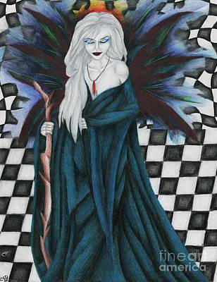 Wiccan Drawing - Checkerboard Sorcery by Coriander  Shea