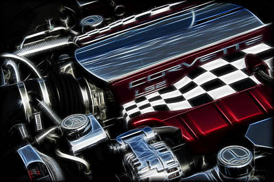 Photograph - Checkered Flag Fractal by Ricky Barnard