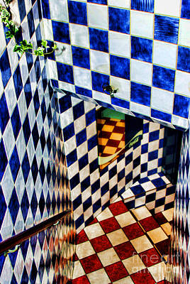 Checkered Past By Diana Sainz Art Print by Diana Sainz