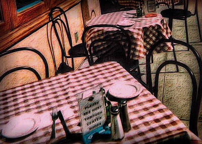 Photograph - Checkered Tablecloths by Nadalyn Larsen