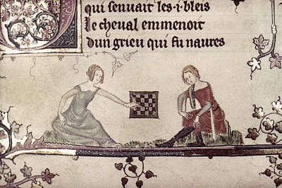 Painting - Checkers, 14th Century by Granger