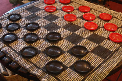 Game Piece Photograph - Checkers by Art Block Collections