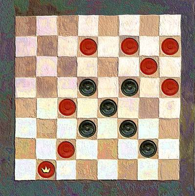 Checkers Digital Art - Checkers Game by Linda Mears