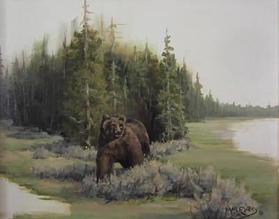 Checkin' His Territory  Art Print by Mar Evers