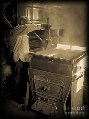 Photograph - Checking The Maple Syrup by Edward Fielding