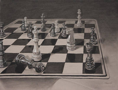 Painting - Checkmate by Christopher Reid