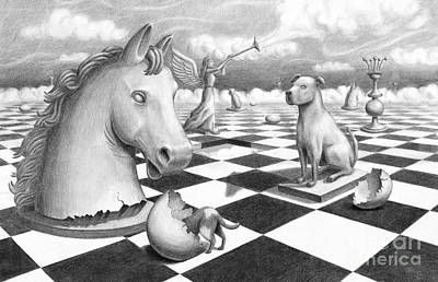 Checkmate Art Print by Denise M Cassano