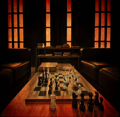 Checkers Photograph - Checkmate by Evelina Kremsdorf