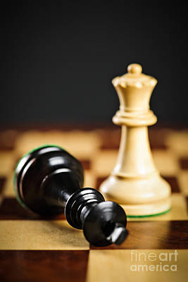 Chess Photograph - Checkmate In Chess by Elena Elisseeva