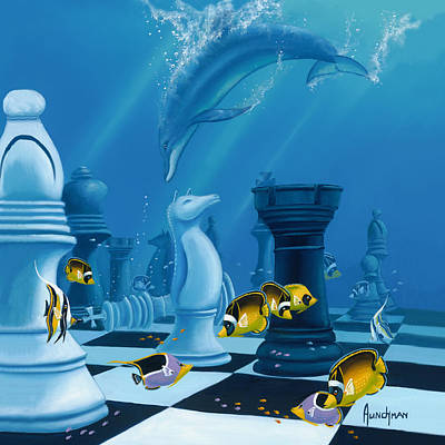 Painting - Checkmate by Kenneth F Aunchman