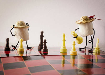Checkmate Mallow Art Print by Heather Applegate
