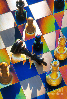 Checkmate Art Print by Mike Agliolo