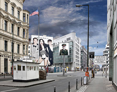 Photograph - Checkpoint Charlie 2011 by Endre Balogh