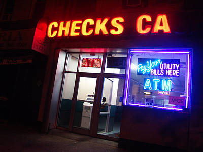 Photograph - Checks Ca In Nyc by Mieczyslaw Rudek Mietko