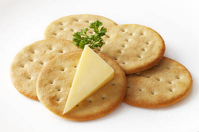 Cheddar Cheese Photograph - Cheddar Cheese And Crackers by Colin and Linda McKie