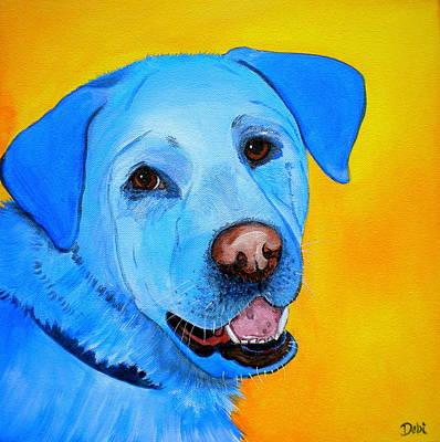 Soulful Eyes Painting - Cheddar by Debi Starr