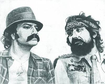 Great Drawing - Cheech And Chong by Jeff Ridlen