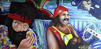Painting - Cheech And Chong    by Ottoniel Lima