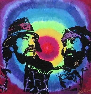 Painting - Cheech And Chong Still Smokin by Bill Manson