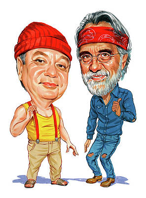Comical Painting - Cheech Marin And Tommy Chong As Cheech And Chong by Art