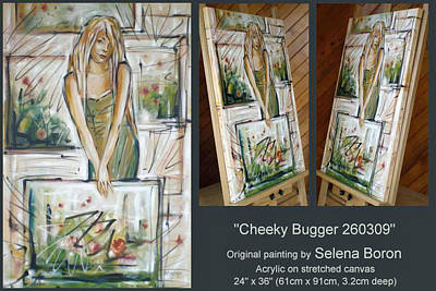 Art Print featuring the painting Cheeky Bugger 260309 Comp by Selena Boron