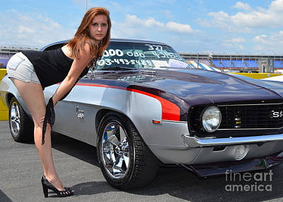 Photograph - Cheeky Camaro by Mark Spearman