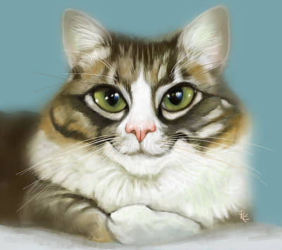 Cheeky Cat Art Print